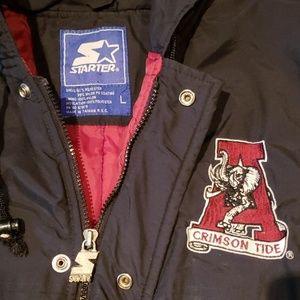 STARTER Jackets & Coats - Vtg 90s Alabama ROLL TIDE Starter Jacket sz L